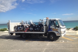 swan-towing-motorbike-truck-harleys